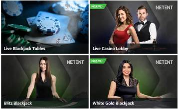 Blackjack en vivo en Betsson