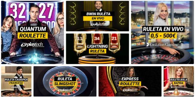 bwin ruletas en vivo